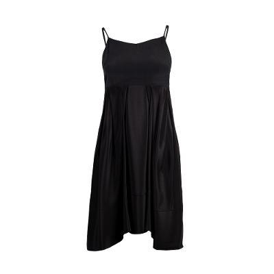 flair midi dress black